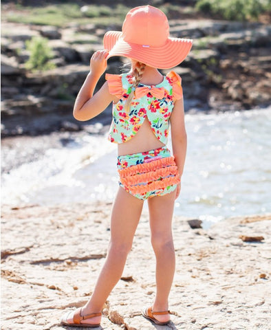 RB Painted Flowers Tulip Tankini