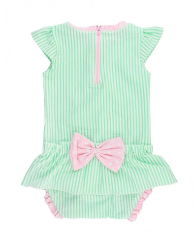 RB Mint Seersucker Peplum One Piece