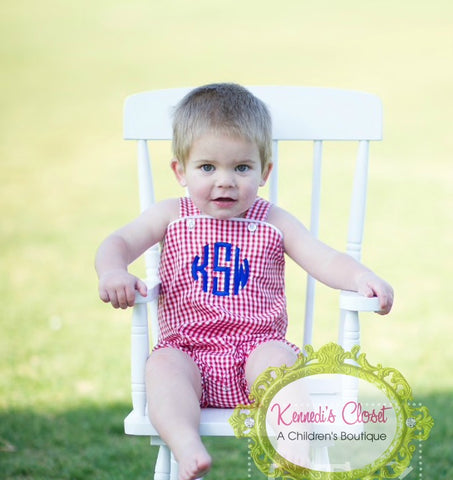 Red Gingham Sunsuit