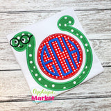 Book Worm Monogram Applique Shirt