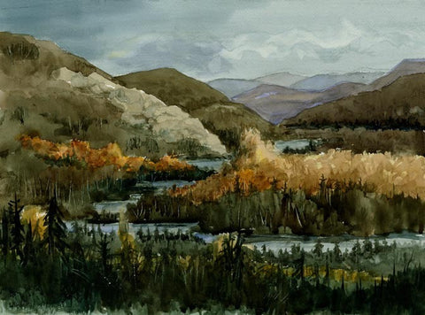 Fall Mountain River Print
