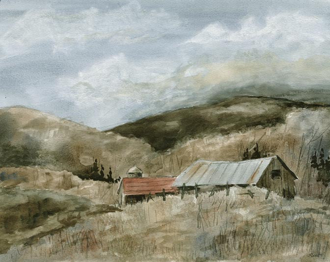 Tin Roof Barns Print