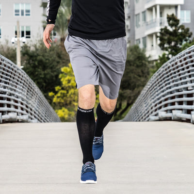 Black Compression Socks for Running