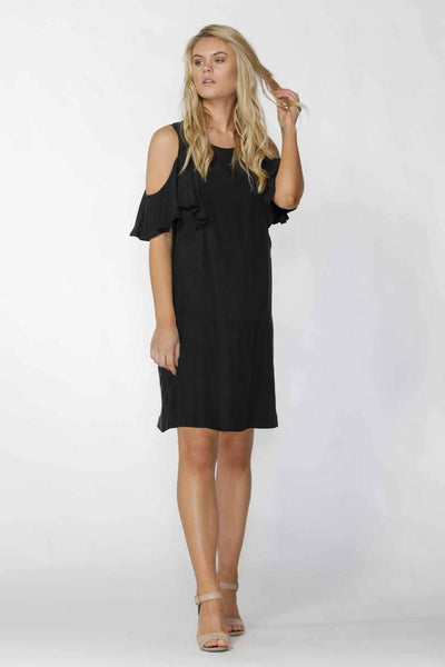 Fate + Becker - Darinna Cold Shoulder Dress Black
