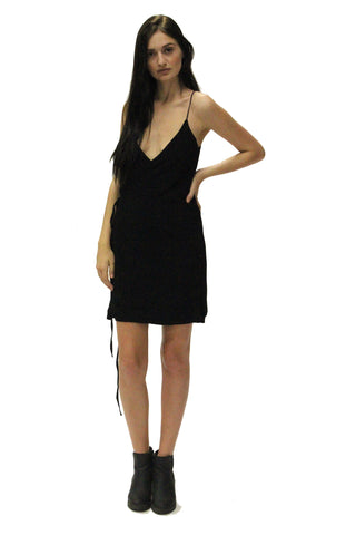 Icon Wrap Dress Black
