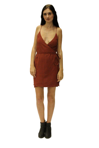 Icon Wrap Dress Red