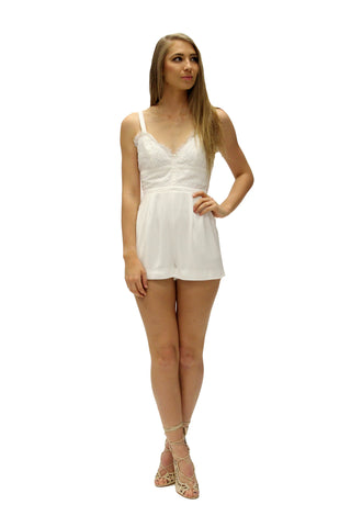 Interlude Lace Playsuit Ivory
