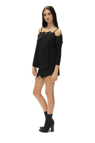 Klaire Lace Trim Top