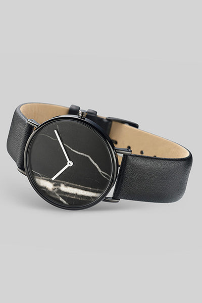 The Classic - Black Stone / Black Leather