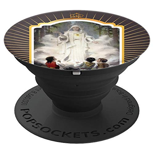 Our Lady of Fatima Virgin Mary Catholic - PopSockets Grip and Stand for Phones and Tablets