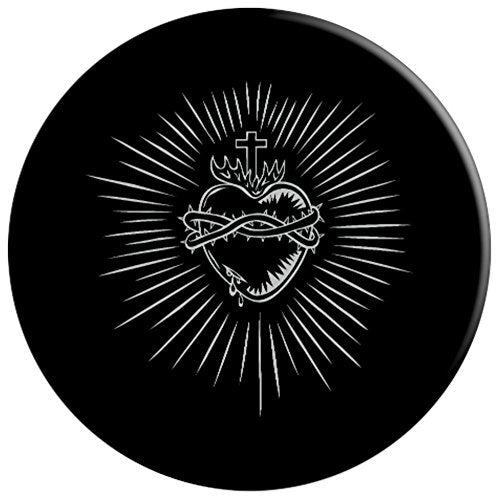 Sacred Heart Of Jesus Devotion Catholic Design - PopSockets Grip and Stand for Phones and Tablets
