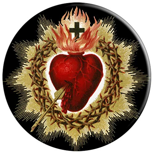 Sacred Heart of Jesus Christ Catholic Blessing Vintage - PopSockets Grip and Stand for Phones and Tablets