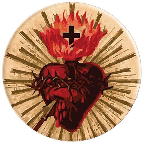 Sacred Heart of Jesus Catholic Vintage - PopSockets Grip and Stand for Phones and Tablets