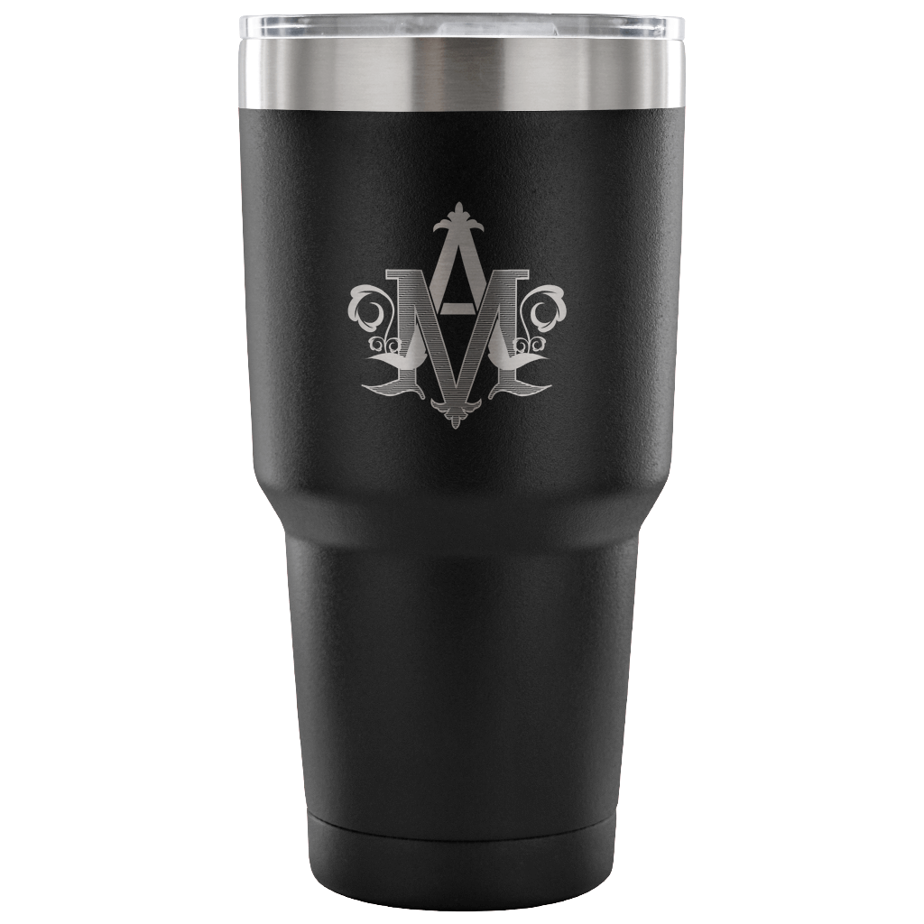 "Auspice Maria Vacuum Tumbler 30 oz ""Under The Protection Of Mary"""