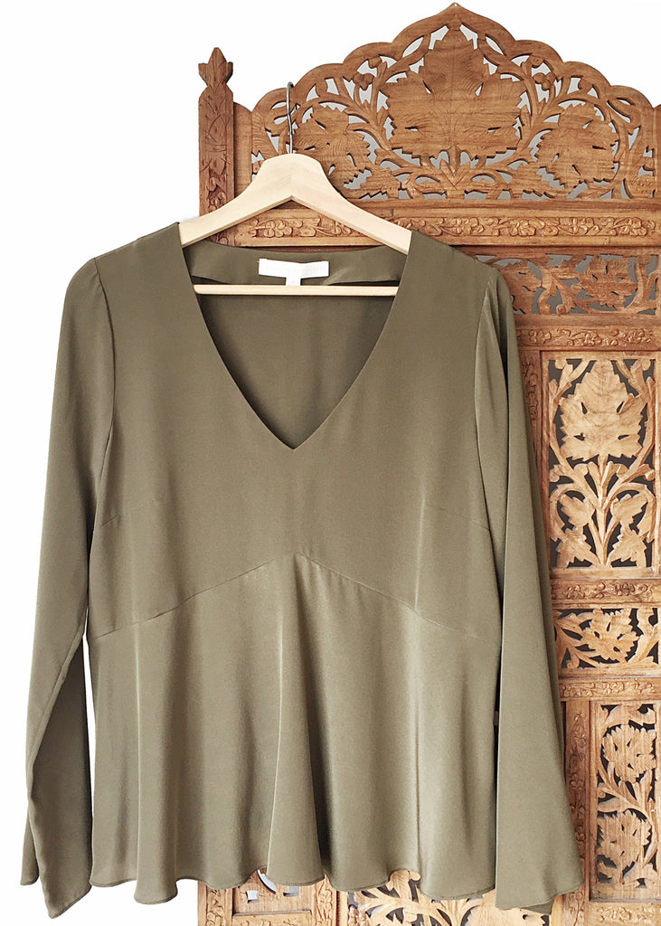 Flared Sleeve Blouse
