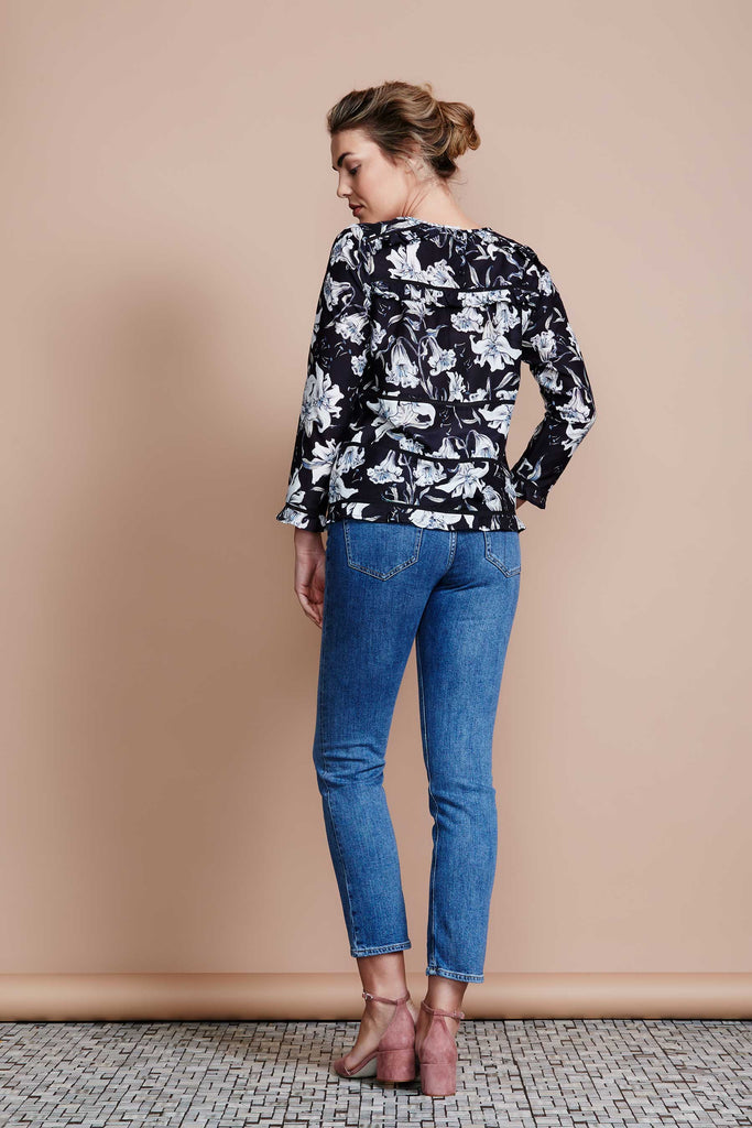 Nocturnal Bloom Blouse