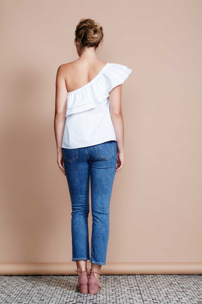 MADE IN MELBOURNE One Shoulder Blouse