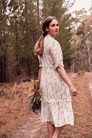 e5e07aeb42 Belinda Humphrey. Country Floral Midi Dress