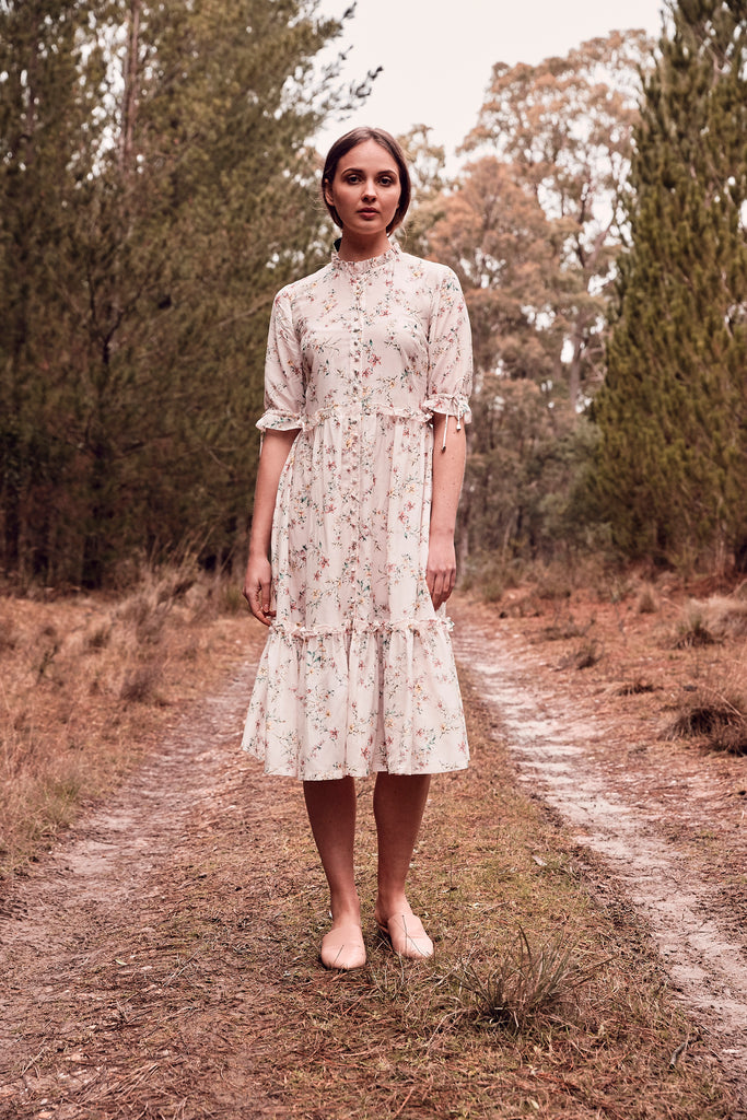 Country Floral Midi Dress