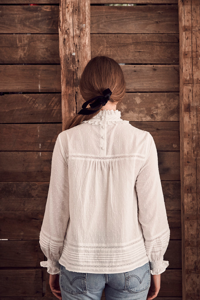 Vintage Pintuck Blouse