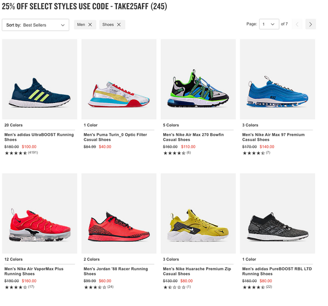 25% Off Select Styles on Finishline!