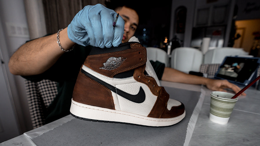 "AIR JORDAN 1 ""TRAVIS SCOTT"" CUSTOM TUTORIAL + ON FEET"