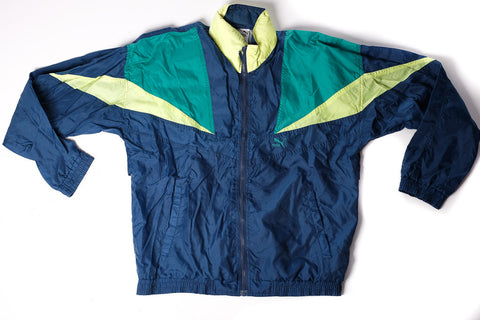 Vintage PUMA hooded windbreaker top jacket