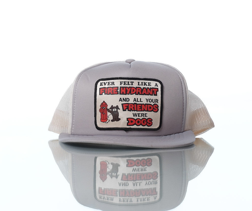 Fire Hydrant : Dog trucker hat cap