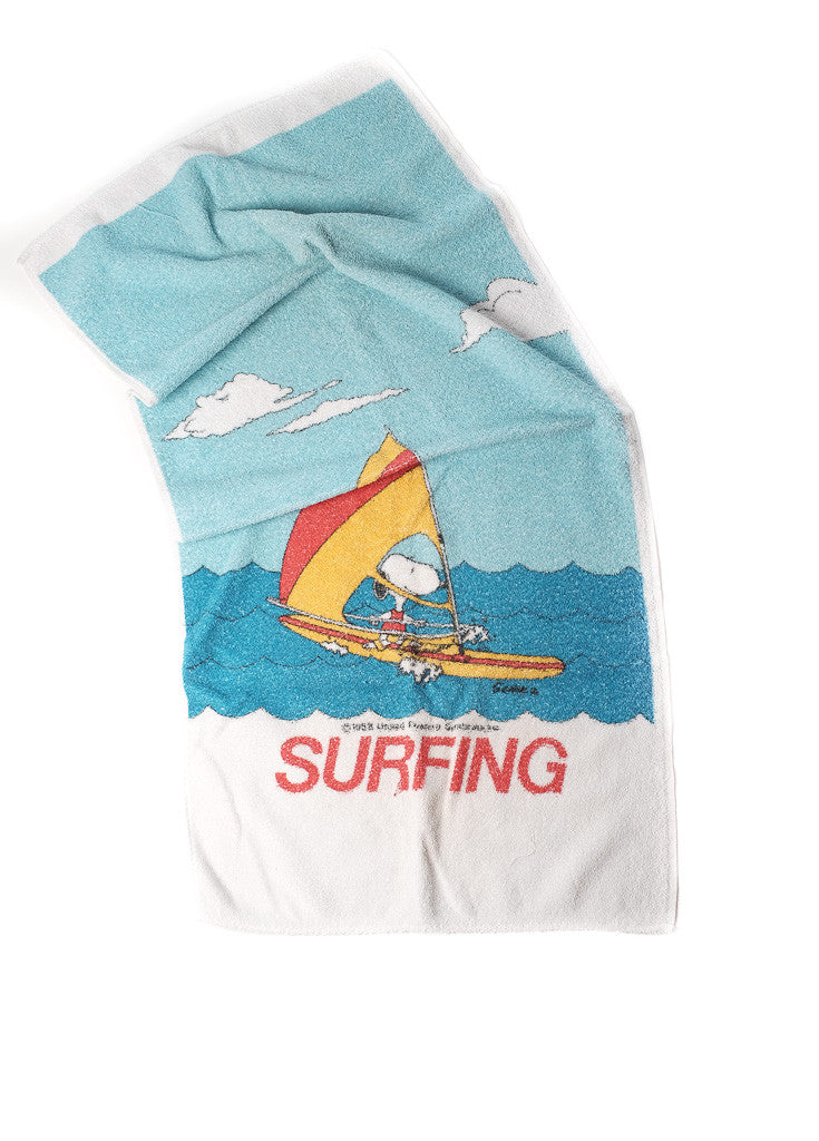1953 Snoopy : Peanuts SURFING hand towel