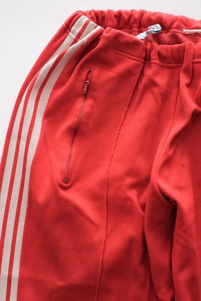 ADIDAS : 1980's Cherry Red Stirrup Track Pants