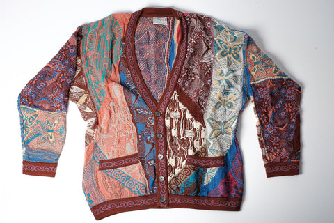 Men's Vintage Coogi cardigan - 'FLY