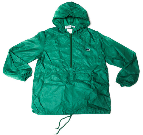Vintage LACOSTE green parka windbreaker jacket