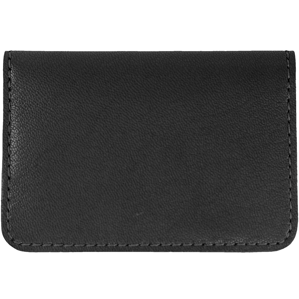 Gray French goat leather card case