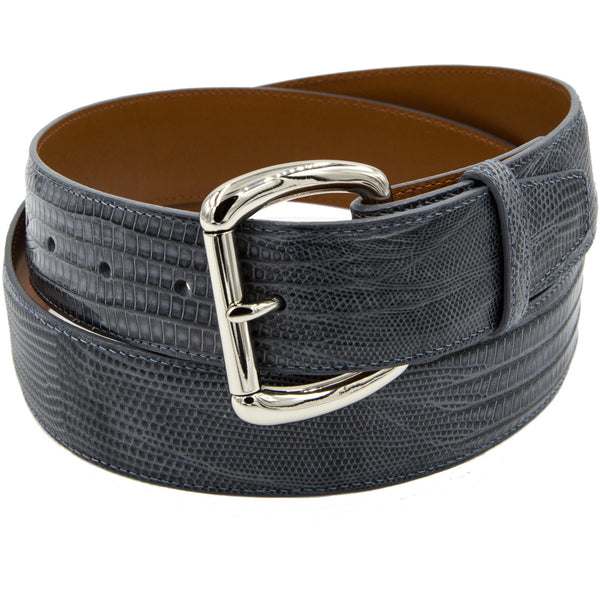Gray lizard belt