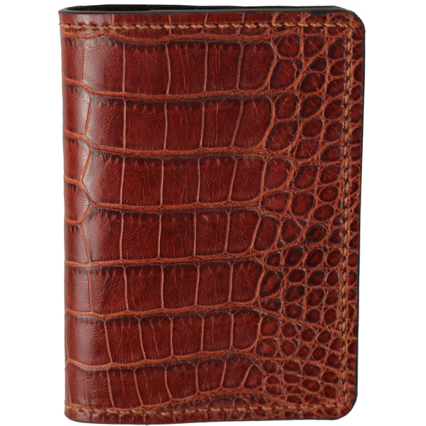 Cognac alligator wallet