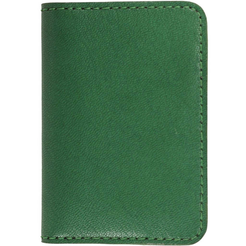 Green French goat leather wallet