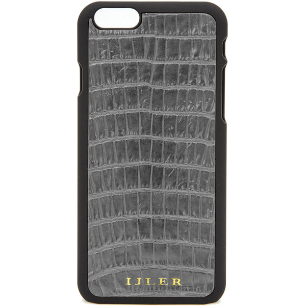 Gray alligator iphone case