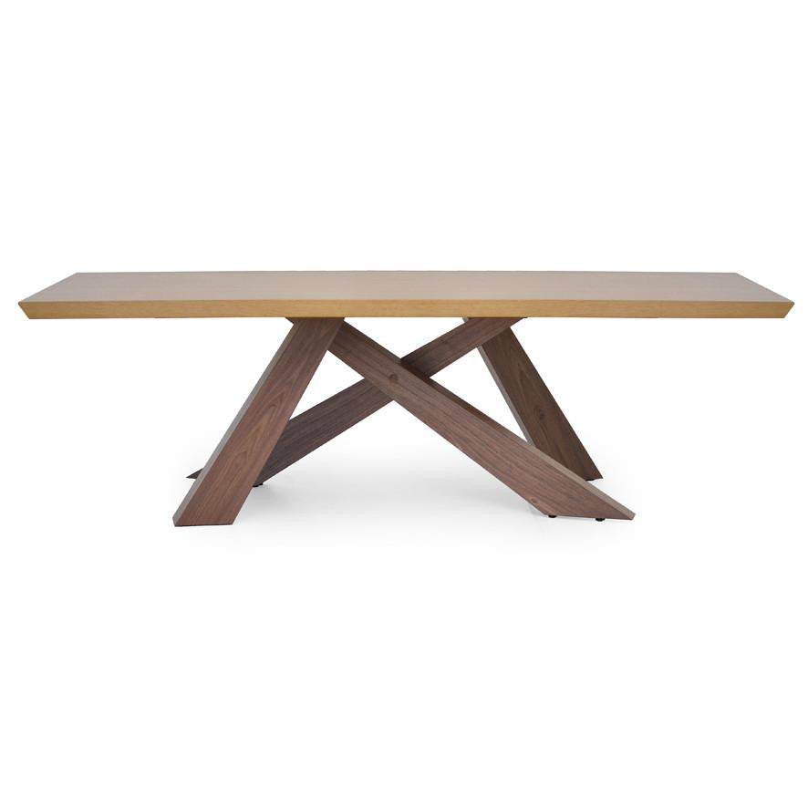 Axel Modern Dining Table With Criss Cross Legs