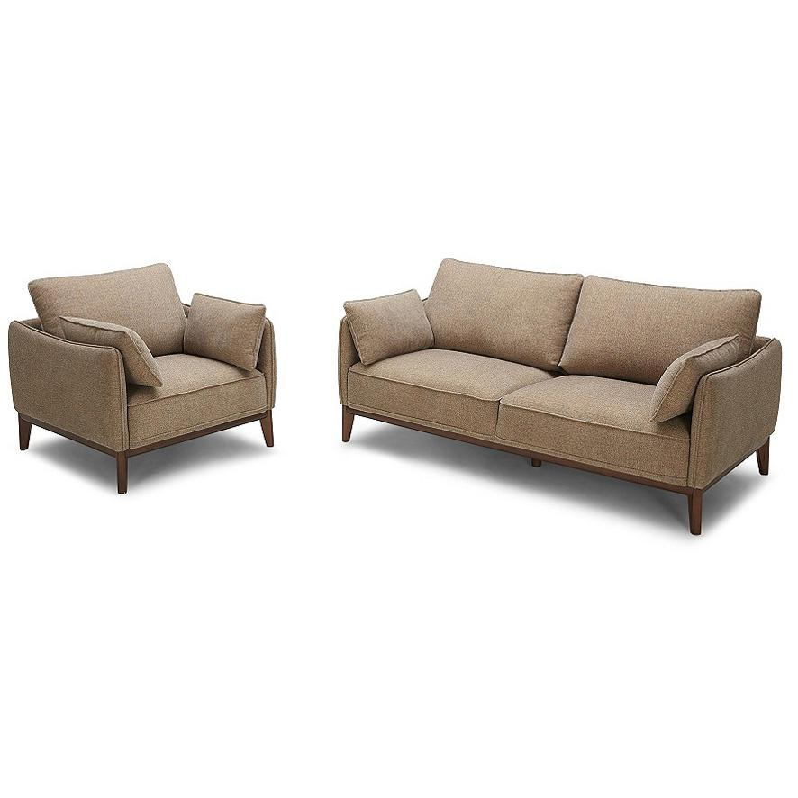 Carson Fabric Or Leather Sofa With Timber Legs