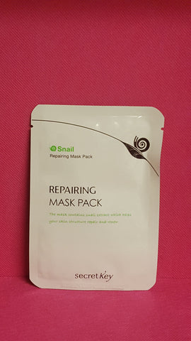 Secret key snail repairing mask