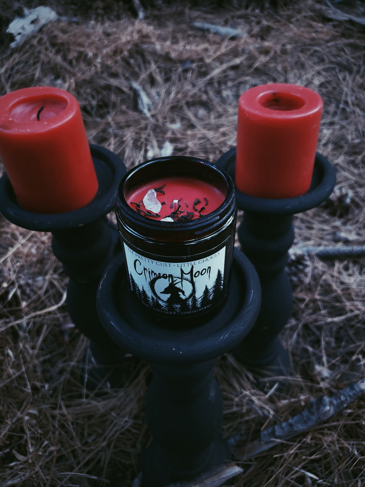 """Crimson Moon"" Candle"