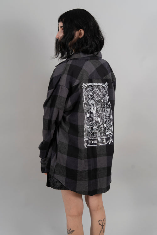 Green Witch Flannel