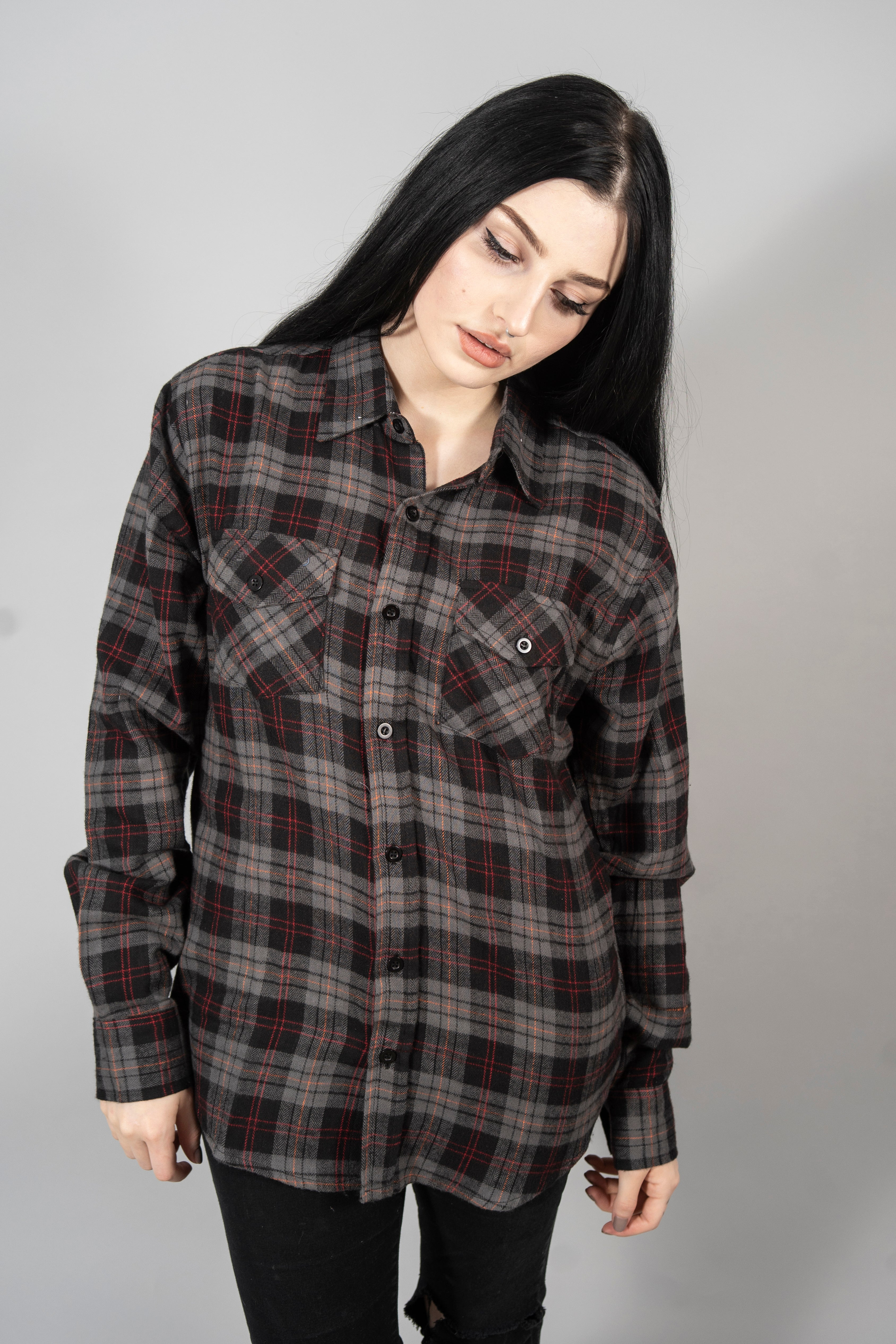 Magician Charcoal Flannel