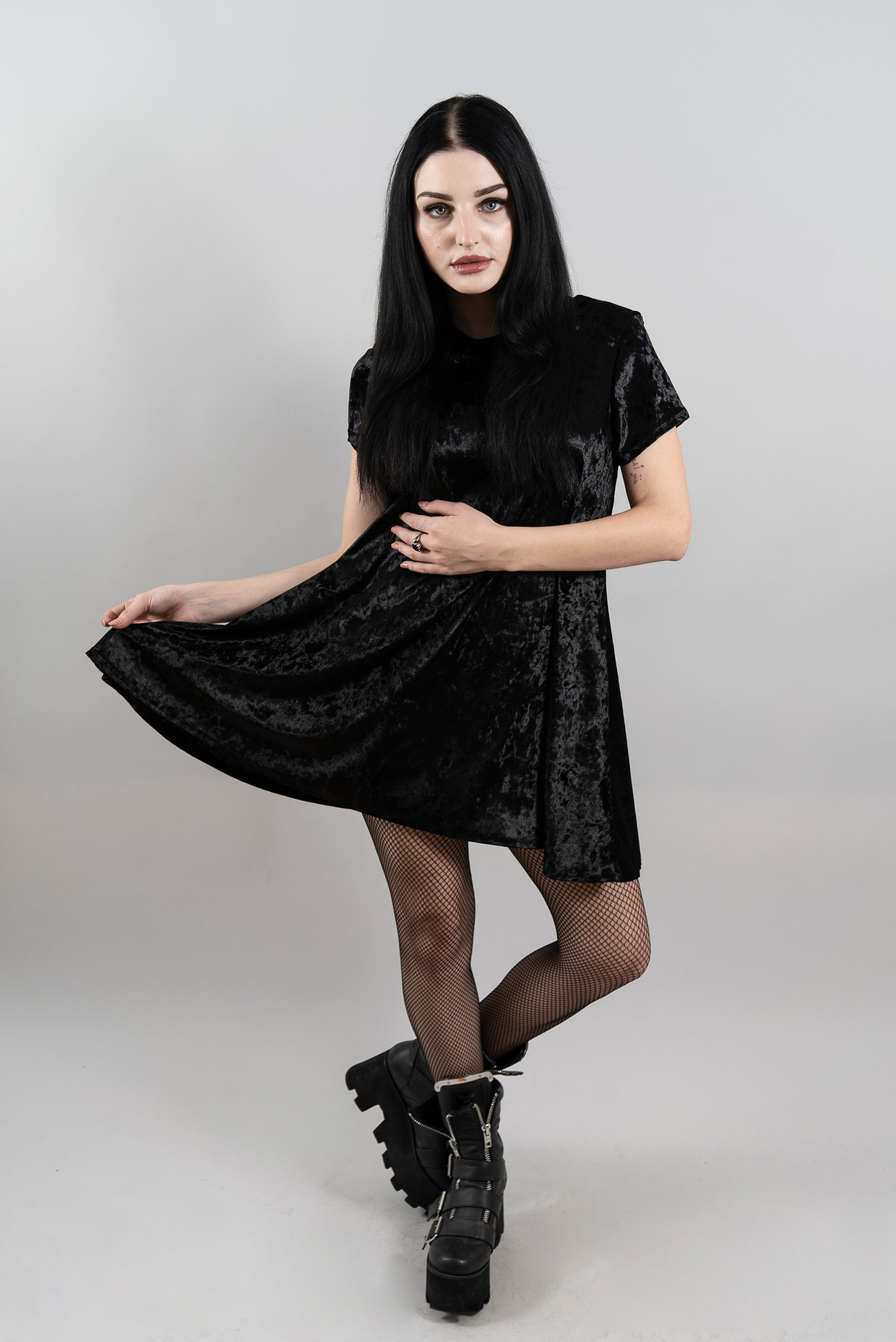 The Stevie Dress Midnight Black