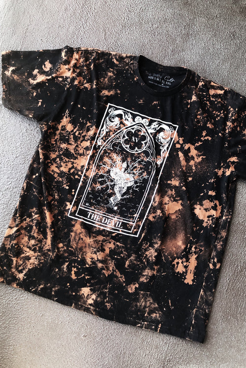 """Devil'' Bleached Tee Size XL"