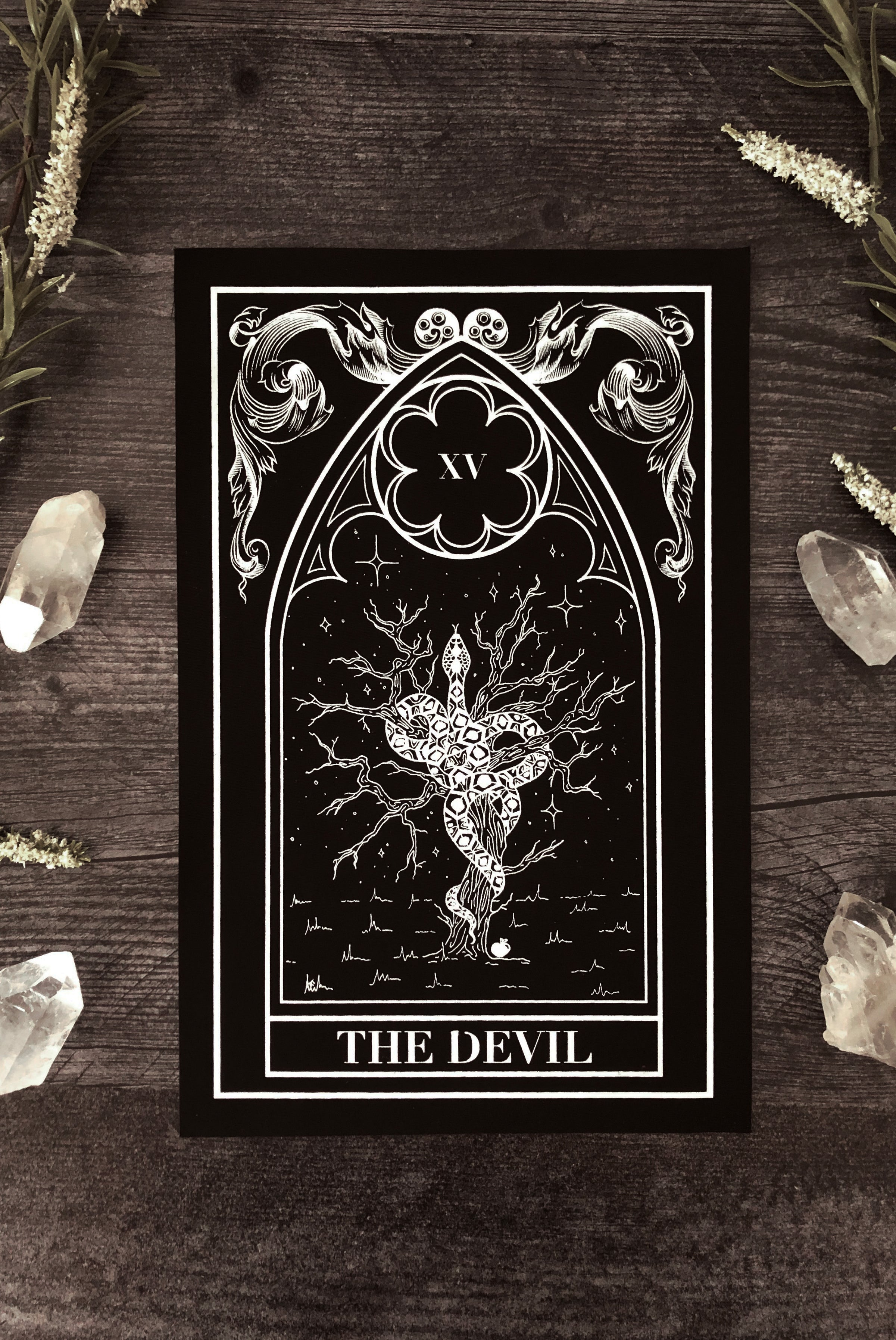"""The Devil"" Tarot Card Back Patch"