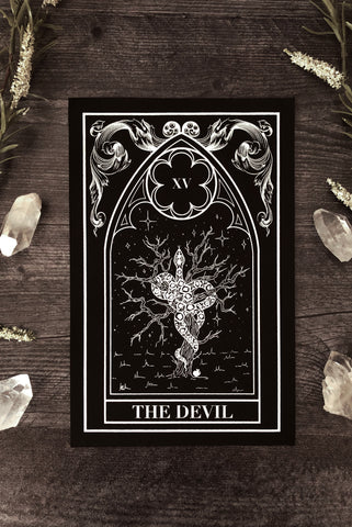 """The Devil"" Tarot Card Velvet Back Patch"