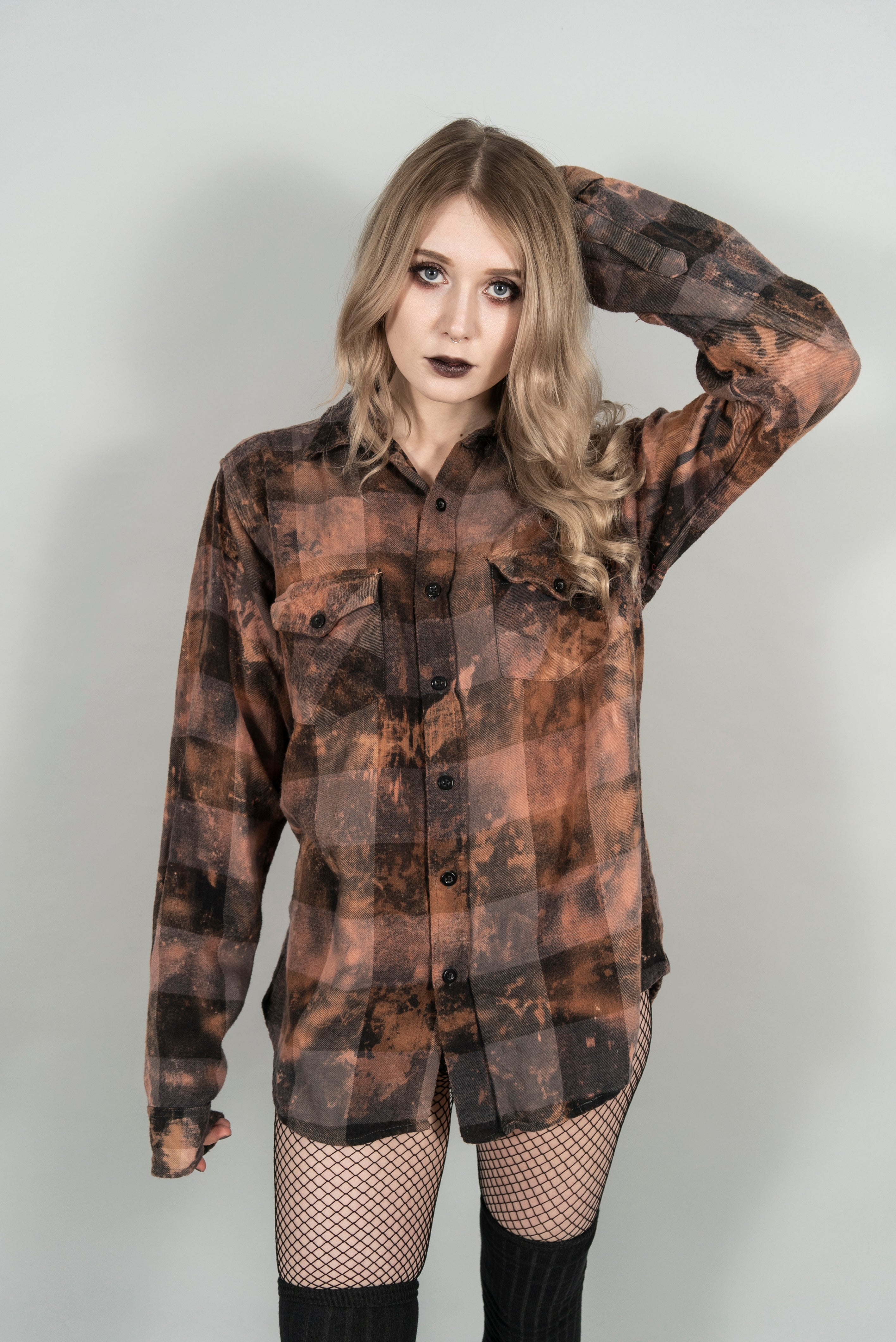 Bleached Eclectic Witch Flannel