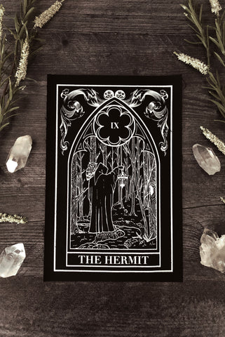 """The Moon"" Tarot Card Velvet Back Patch"