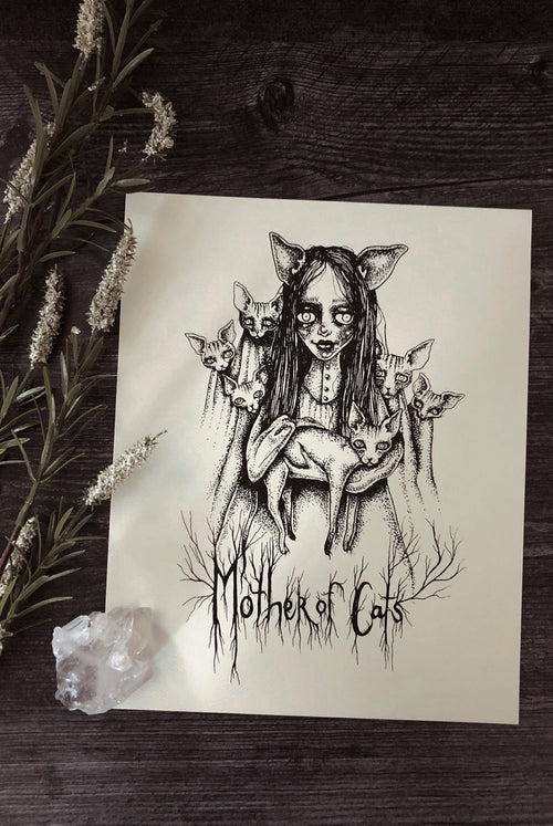 Mother Of Cats Print